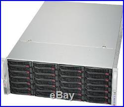 UXS Server 4U 24 Bay Quad LGA 2011 Storage Chassis CSE-848A-R1K62B Rail 24 sleds