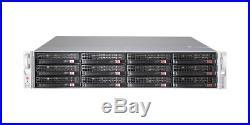 UXS Server Supermicro 2U 12 Bay FREENAS JBOD X9DRI-LN4F LSI ZFS 6GB/S NONRAID