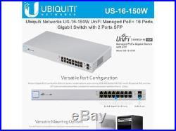Ubiquiti Networks 16-Port UniFi Switch, Managed PoE+ Gigabit Switch with SFP, 15