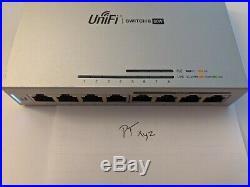 Ubiquiti Networks UniFi (US-8-60W) 8 port Managed Gigabit Ethernet Switch with POE