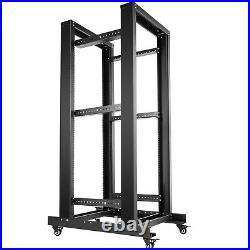 VEVOR Open Frame Server Rack Network Server Rack 27U 4 Post 19 Steel Relay Rack