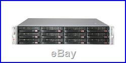Xeon 12 Core Low Power 2U Supermicro Server FREENAS ZFS UNRAID 32GB 12xTray RAIL